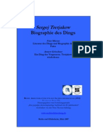 Biographie Des Dings - Sergej Tretjakow