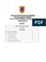 BIMM %28Marketing%29 IV Semester Syllabus (1)