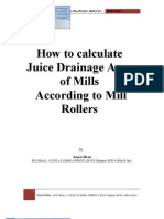 Calculation for Juice Drainage Area of Sugar Mill Rollers