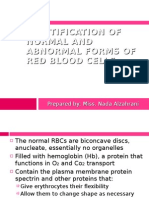 Identification of Normal and Abnormal Forms of Red