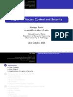 LogicForAccessControlAndSecurityPresentation-Aug2006-MortezaAmini