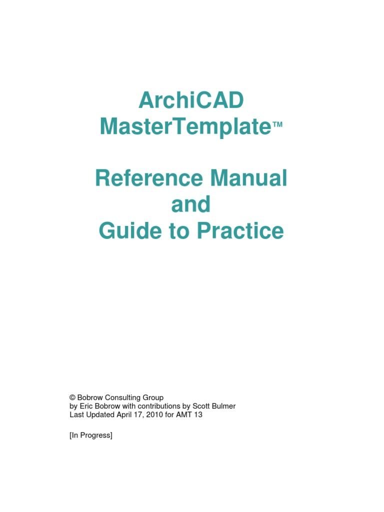archicad master template page layout computer file rh es scribd com