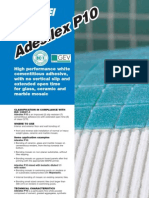 Adesilex P10 - TDS