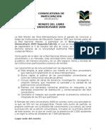 Propuesta convocatoria Remate Libro Universitario 2009