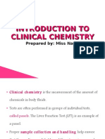 Introduction to Clinical Chemistry