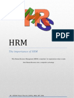 The Importance of Hrm for Organization