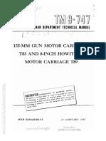 Tm 9-747 155-MM GUN MOTOR CARRIAGE