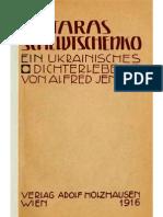 Taras Schewtschenko. Ein Ukrainisches Dichterleben. Von Alfred Jensen (1916)
