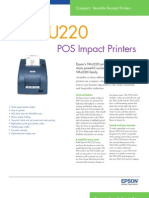 Epson TM-U220 Series POS Impact Printer Brochure