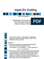 Data Compression Lempel-Ziv Coding