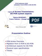 XGPON Optical Access Transmission