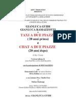SCHEDA Taxi -Chat 18-19-20-21 Luglio 2013 Borgio Verezzi 2013