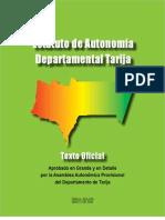 Estatuto Autonomia Departamental Tarija