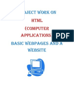 Project Work on HTML
