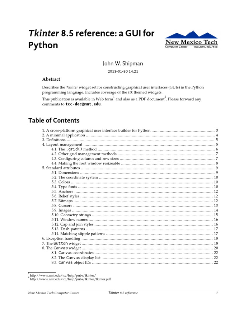Python Tkinter | Graphical User Interfaces | Typefaces