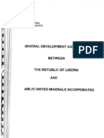 Mineral Exploration Agreement between The Republic of Liberia and Amlib United Minerals Inc.