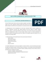 Guía elaboración CV