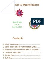 Basic Mathematica Slide