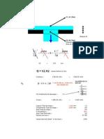 Cálculo Vazão Chapa Perfurada