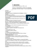 DECRETO Nº 182 - NFe