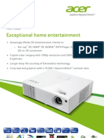 Acer H6510BD DLP Full HD 3D Home Entertainment Projector