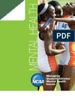 NCAA Managing Student-Athletes Mental Health Issues