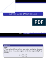 Lines and Parabolas