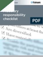 Fiduciary Responsibility Checklist