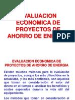 Evaluacion Economica de Proyectos de Ahorro de Energia