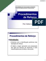 5 - Procedimentos de Reforço