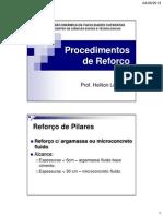 5.1 - Procedimentos de Reforço
