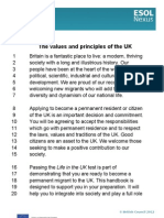 Values and Principles of UK Transcript