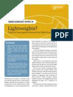 Samara Lightweights report on political participation in Canada