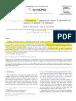 Actividad Antifungica de Aceite Eseencial de Limoncillo Contra Patogenos en Poscosecha