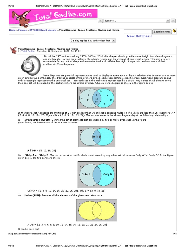 Total gadha venn diagram logic systems science ccuart Image collections