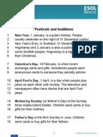 Festivals and Traditions Transcript