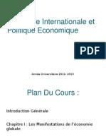 Economie Internationale Et Politique Economique