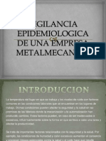 Vigilancia Epidemiologica de Una Empresa Metalmecanica