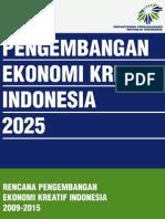 Buku 3 Rencana Pengembangan Ekonomi Kreatif Indonesia 2009-2015