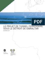Projet tunnel ferroviaire sour le détroit de Gibraltar