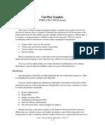 Test Plan Template (IEEE 829-1998 Format)
