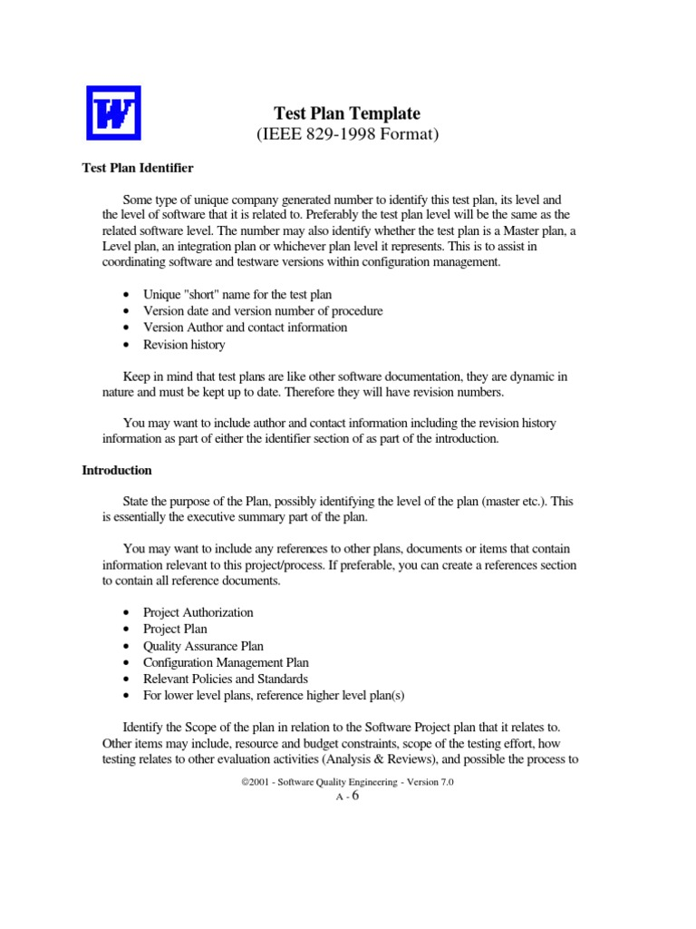 Quality assurance plan template figure 2 configuration for Ieee 829 test strategy template