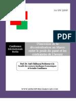 Dimension de La Decentralisation Au Maroc Dv[1]