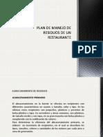 Plan de Manejo de Residuos de Un Restaurante
