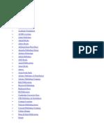 Publishers List