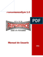 PerformanceGym Manual de Usuario