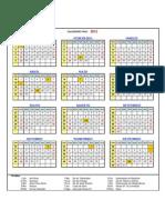 Calendario Feriados Anual