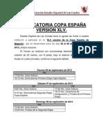 Convocatoria Copa España 2013.