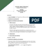 Saline Area Schools Board of Education meeting agenda