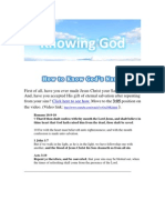 How to Know God's Name (How to Have a Relationship with God After Being Saved)